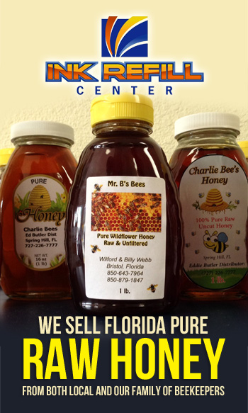 Ink Refill Center - We Sell Florida PURE RAW HONEY!